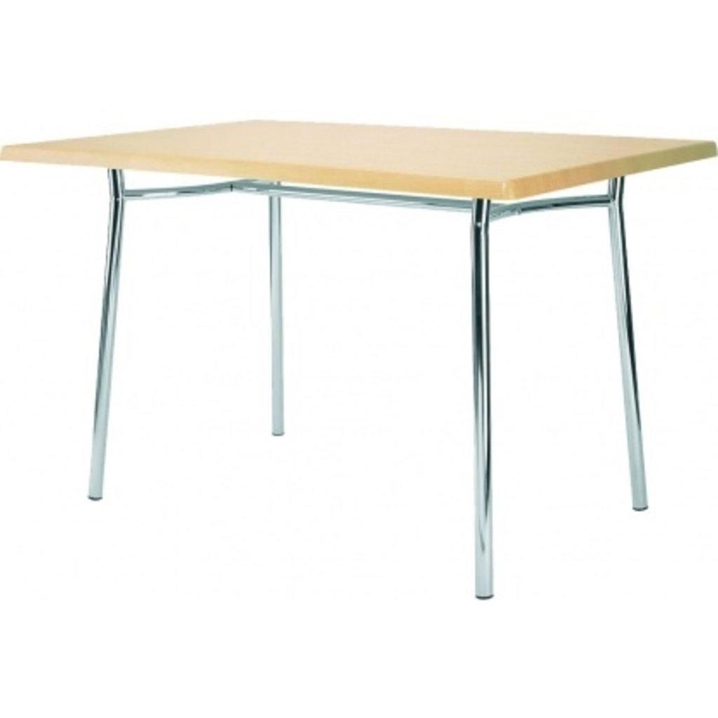 Столы для ресторана, бара, кафе, столовых: Стол прямоугольник 1200х800, подстолья 1277 ЕМ хром в АРТ-МЕБЕЛЬ НН