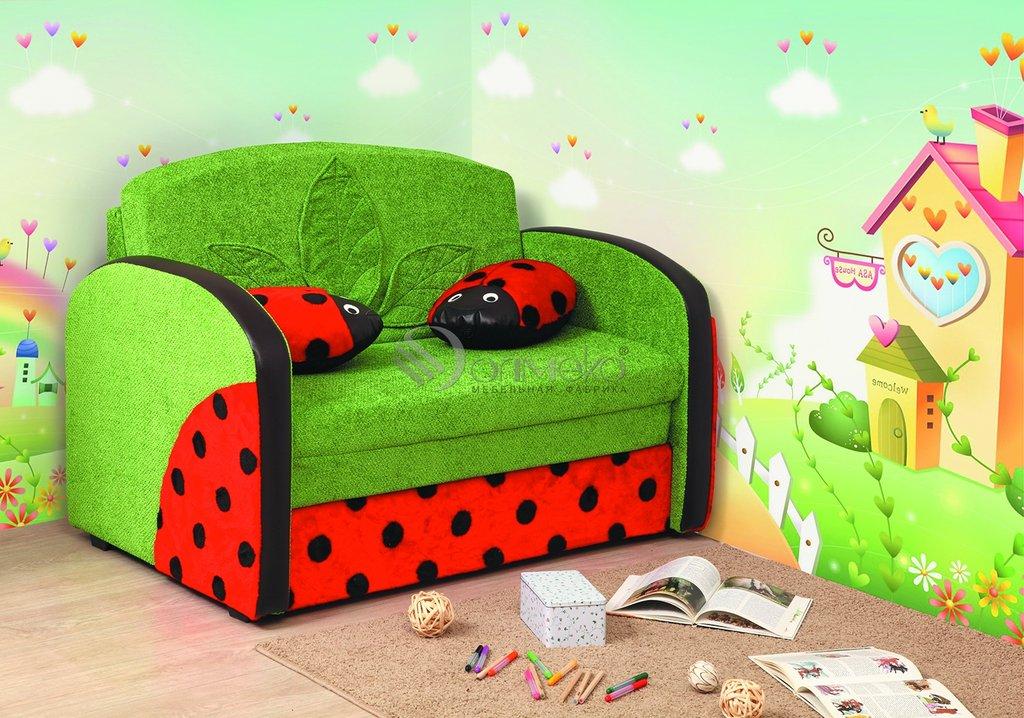 Детские диваны и мягкие кресла: Тахта Мася - 9 (божья коровка) в Стильная мебель