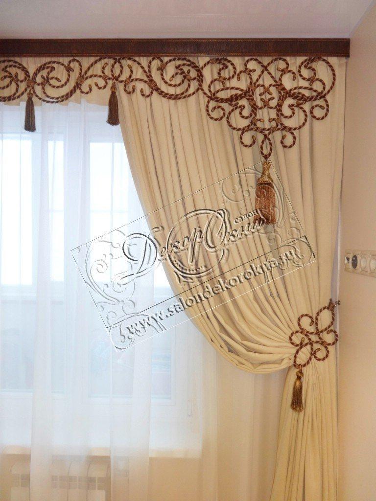 Шторы, портьеры: Шторы для зала в Декор окна, салон