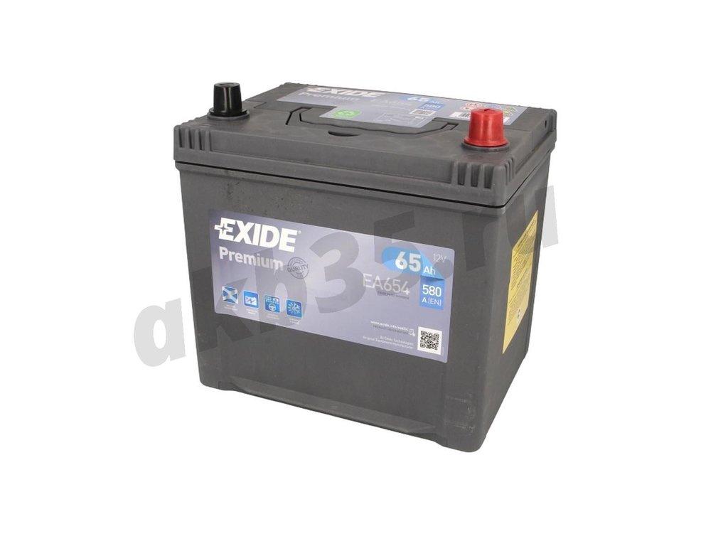 Аккумуляторы: EXIDE 65 А/ч Обратный Азия EA654 в Планета АКБ