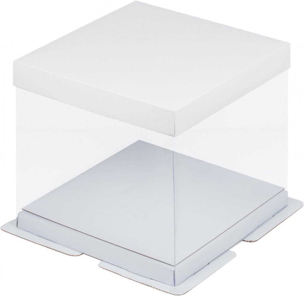 Коробки для тортов: Коробка под торт ПРЕМИУМ  300х300х280 БЕЛАЯ в ТортExpress