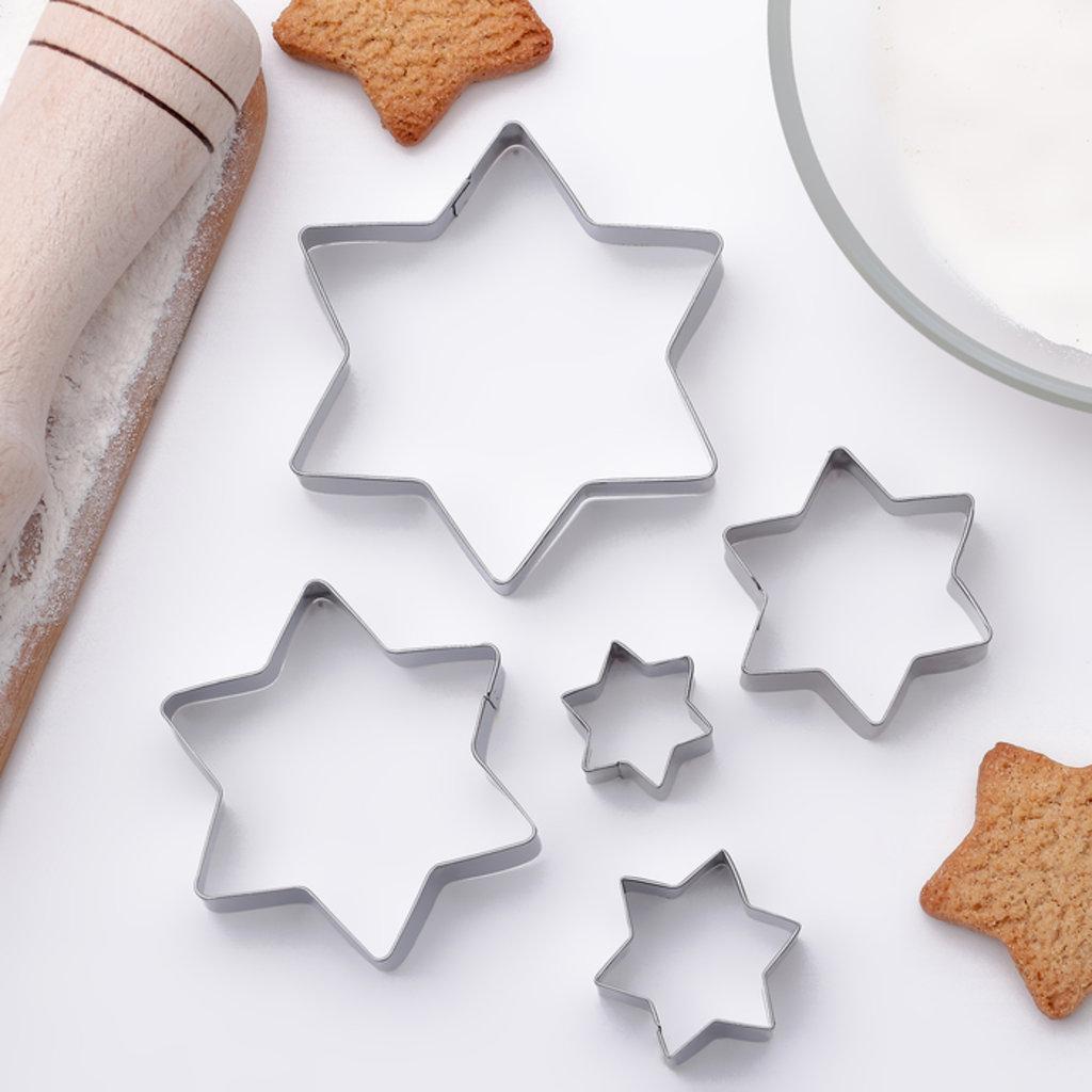 Кондитерский инвентарь: Набор форм для вырезания печенья Звездочки 5шт в ТортExpress