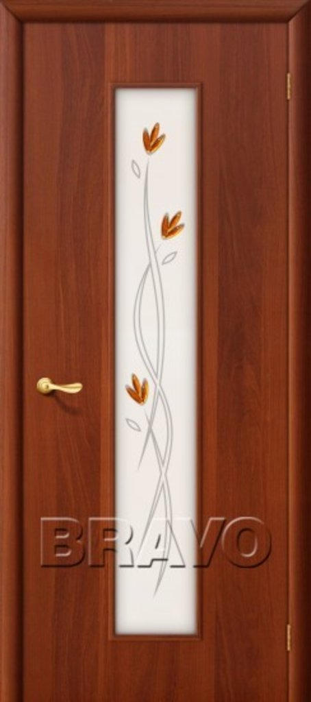Двери ламинированные BRAVO: 22Х Л-11 (ИталОрех) в STEKLOMASTER