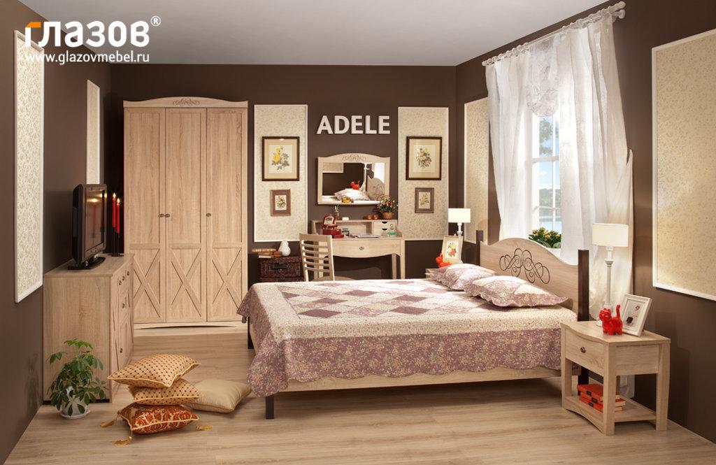Кровати: Кровать ADELE 2 (1600, орт. осн. металл) в Стильная мебель