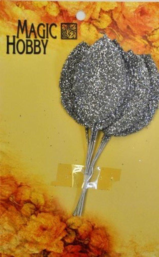 Скрапбукинг: Листочки декоративные Magic Hobby TBY-L21 уп/10шт серебро в Шедевр, художественный салон