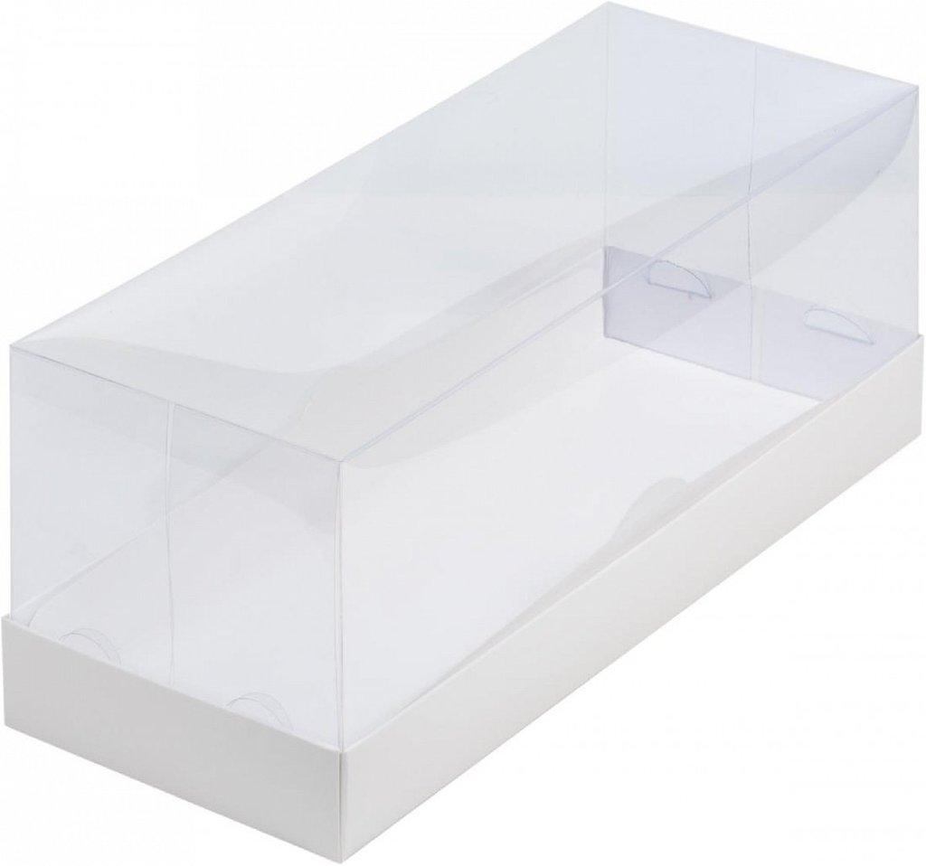 Коробки для кондитерских изделий: Коробка ПРЕМИУМ для рулета с пластиковой крышкой 300х120х120 в ТортExpress