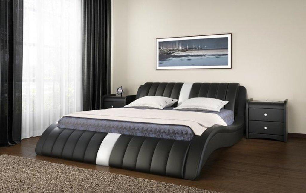 Кровати: Кровать двойная из экокожи Эмма в Уютный дом