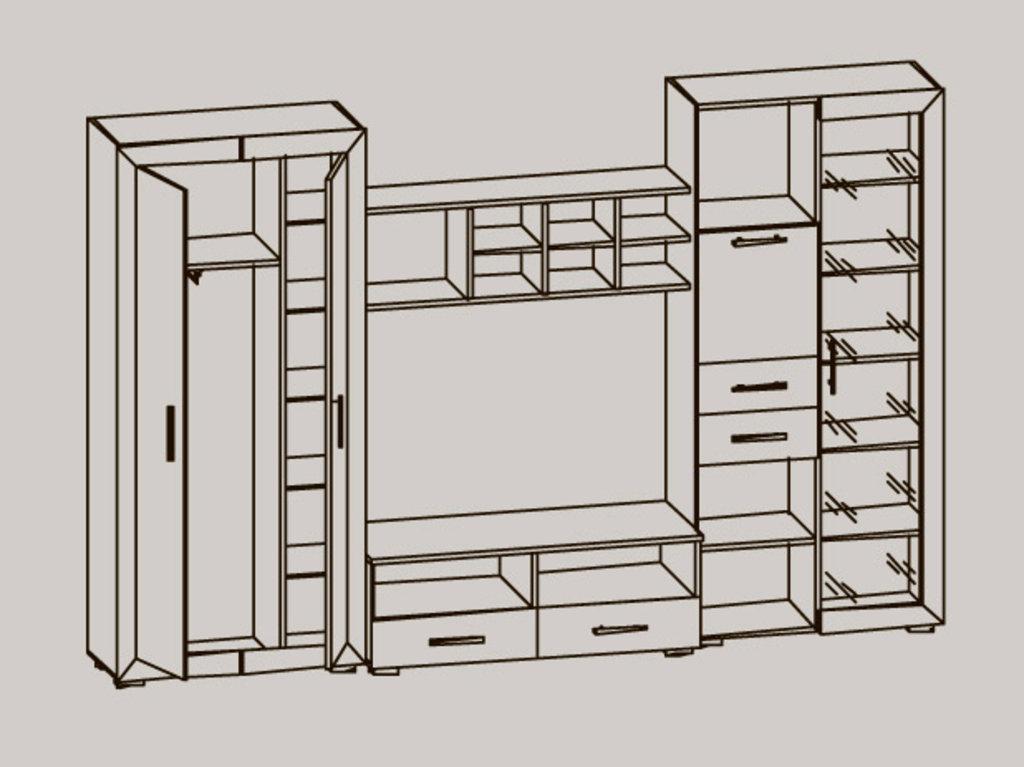 Мебель для гостиных, общее: Стенка Глория - 6 в Стильная мебель