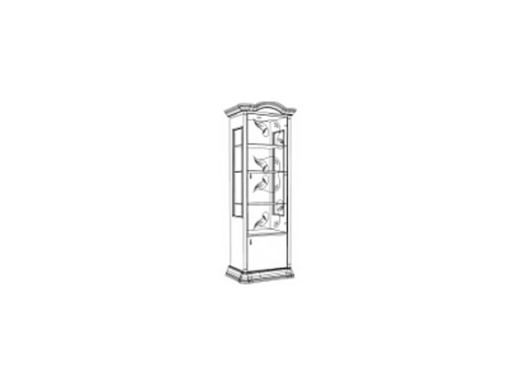 Витрины для гостиных: Витрина 1-дверная правая Роза в Стильная мебель