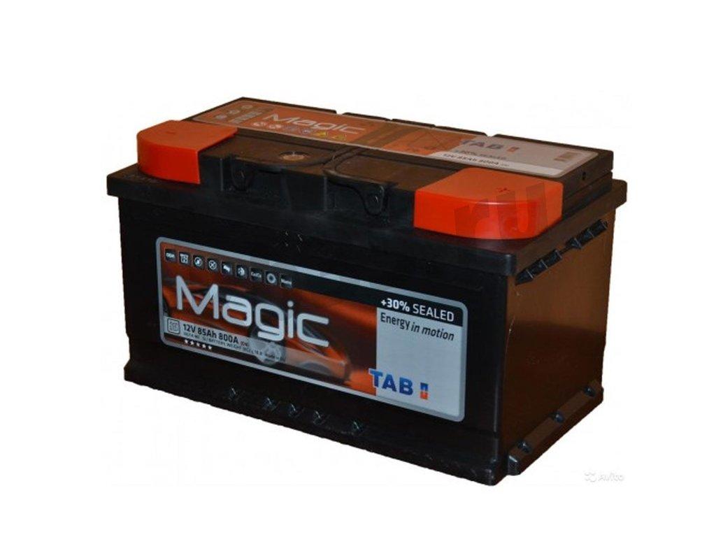 Аккумуляторы: TAB 85 А/ч Обратный Низкий MAGIC в Планета АКБ