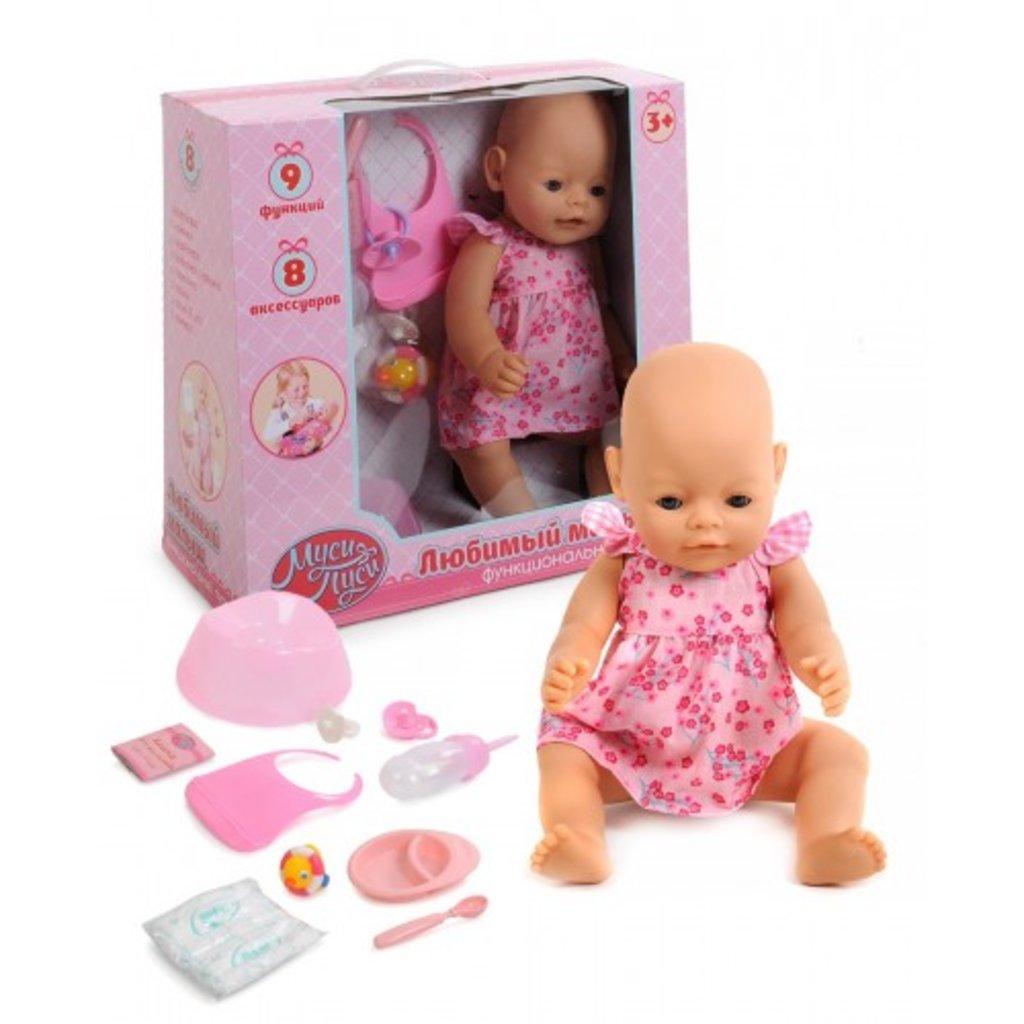 "Игрушки для девочек: Пупс ""Муси-Пуси"" с аксессуарами в Игрушки Сити"