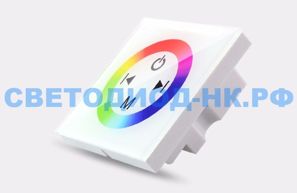 Контроллеры, диммеры: Контроллер Ecola 12V 144W(24V 288W) 12A RGB с кольцевым сенсорным белый CPW12AESB в СВЕТОВОД