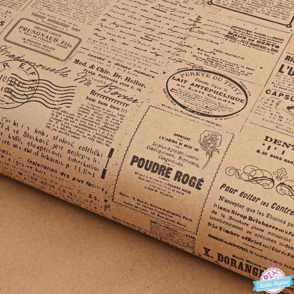 Упаковка: Бумага упаковочная крафт «Газеты» 70х100см 8 метров в ТортExpress