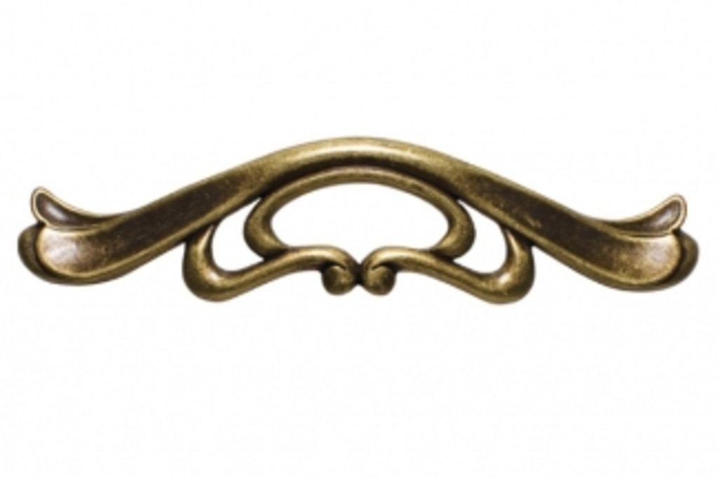 """Мебельная фурнитура """"НОВИНКИ"""": Ручка-скоба 128мм, отделка бронза античная """"Флоренция"""" в МебельСтрой"""