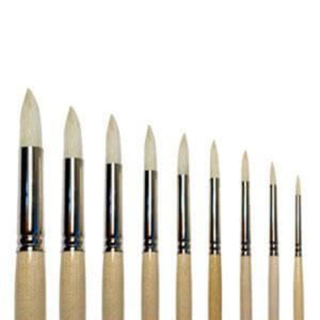 """круглая: Кисть щетина """"Сонет"""" круглая длинная ручка покрытая лаком №5 (7мм) в Шедевр, художественный салон"""