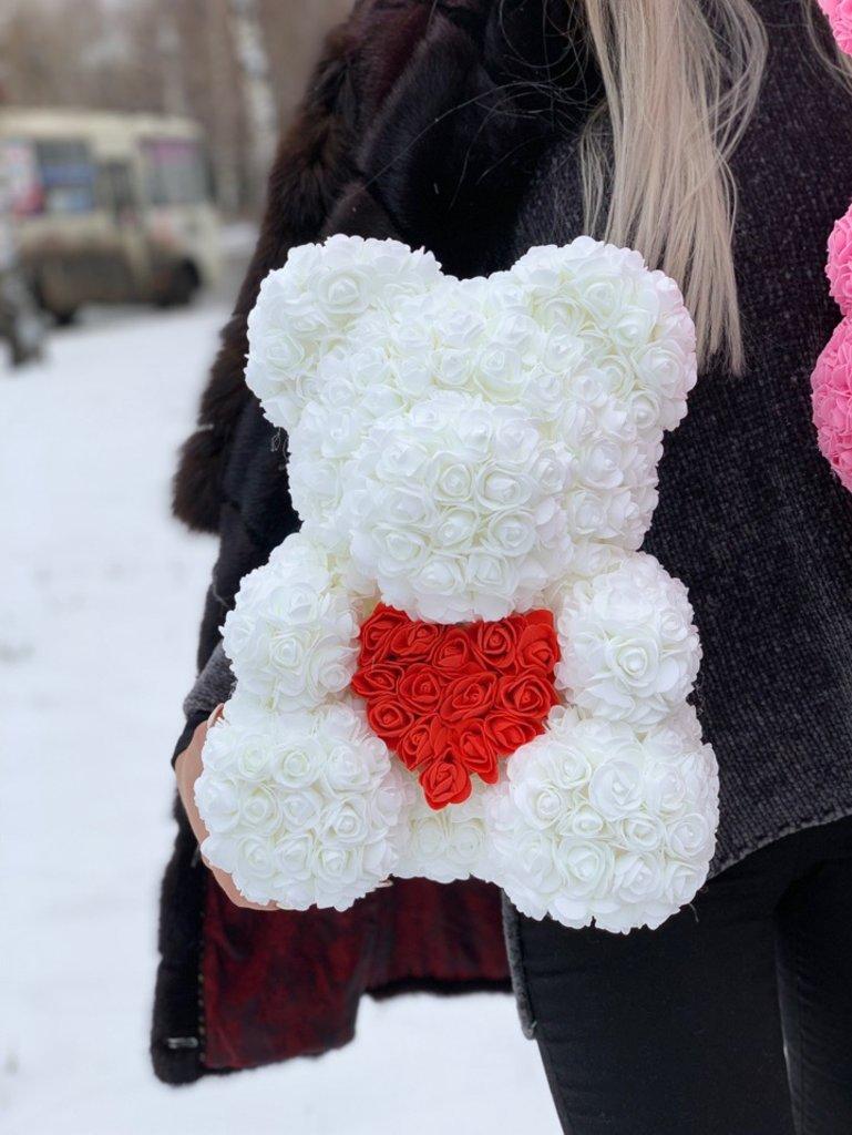 Мишка 40 см с сердцем в Первый цветочный
