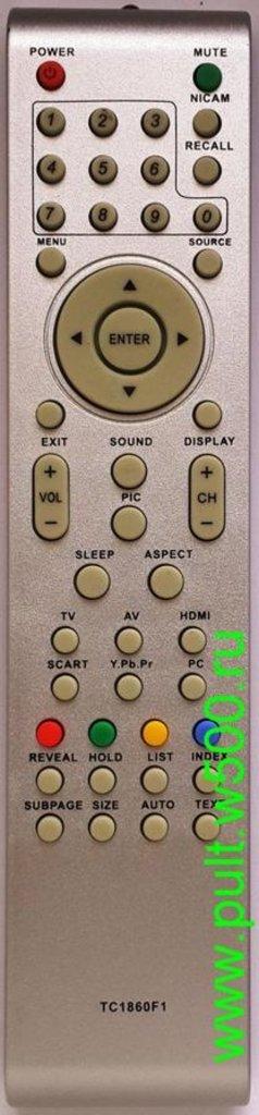 AKIRA: Пульт AKIRA TC1860F Mystery (надп. TC1860F1  без кл. DVD ) (LCD) HUAYU в A-Центр Пульты ДУ