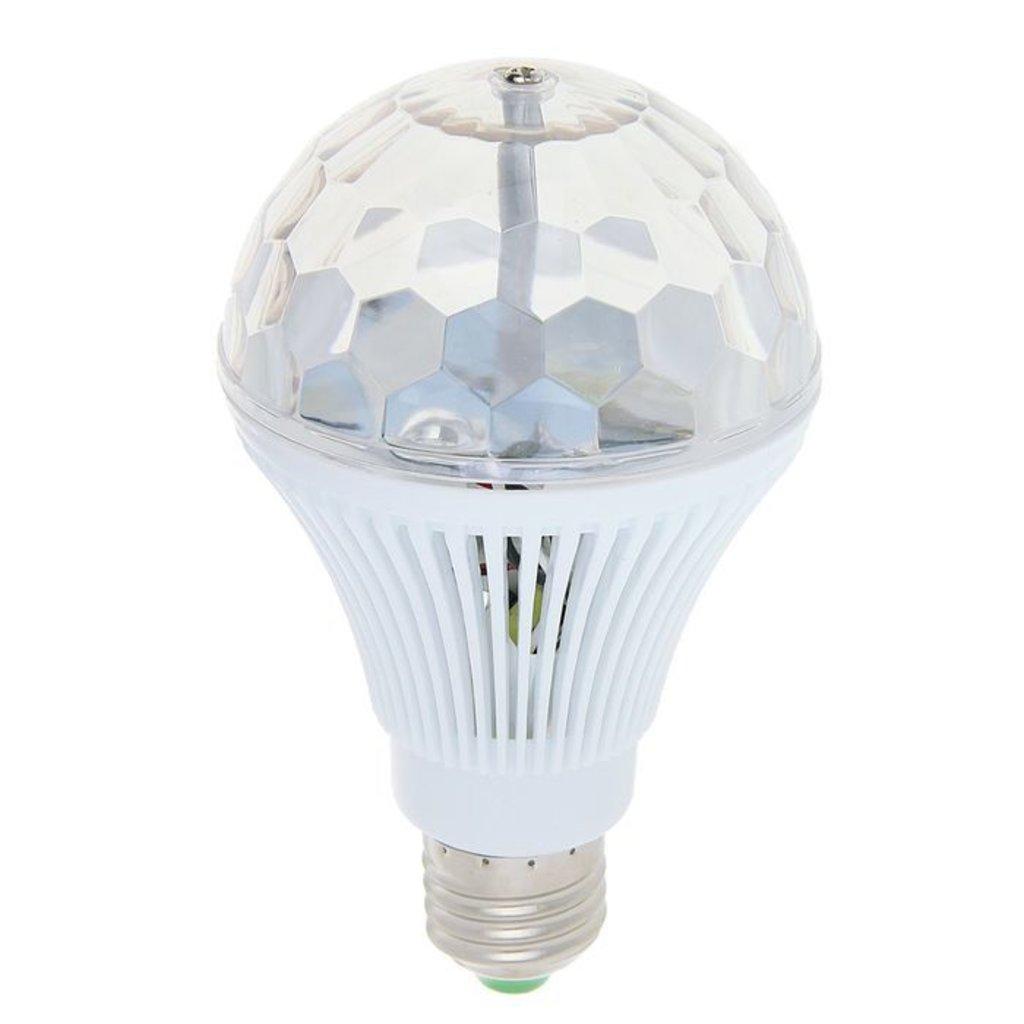 Светодиодные фигуры, приборы: Лампа хрустальный шар диаметр 8 см., 220V, цоколь Е27 в СВЕТОВОД