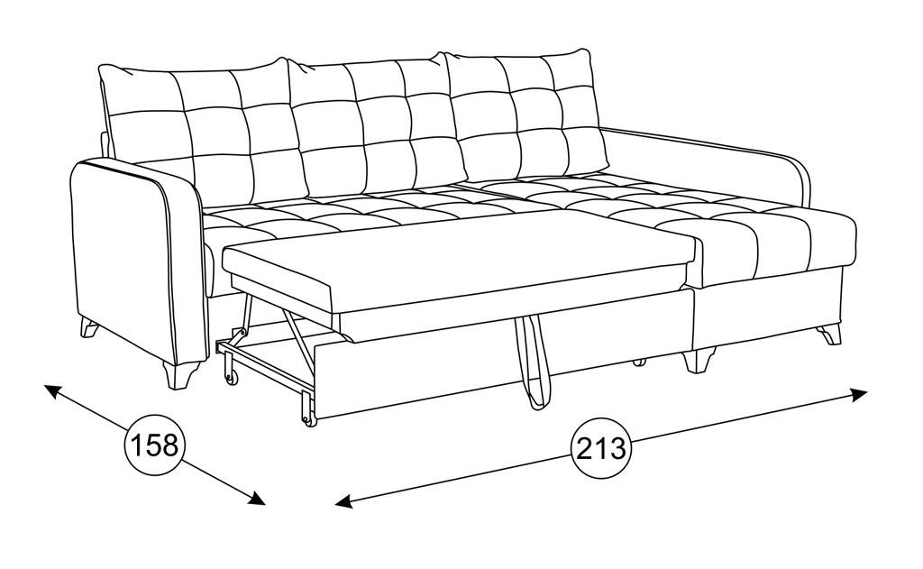 Диваны Квадро: Угловой диван-кровать Квадро ТД 960 в Диван Плюс