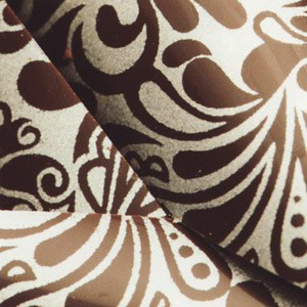 Шоколадный декор: Переводной лист Ажур (серебро) в ТортExpress