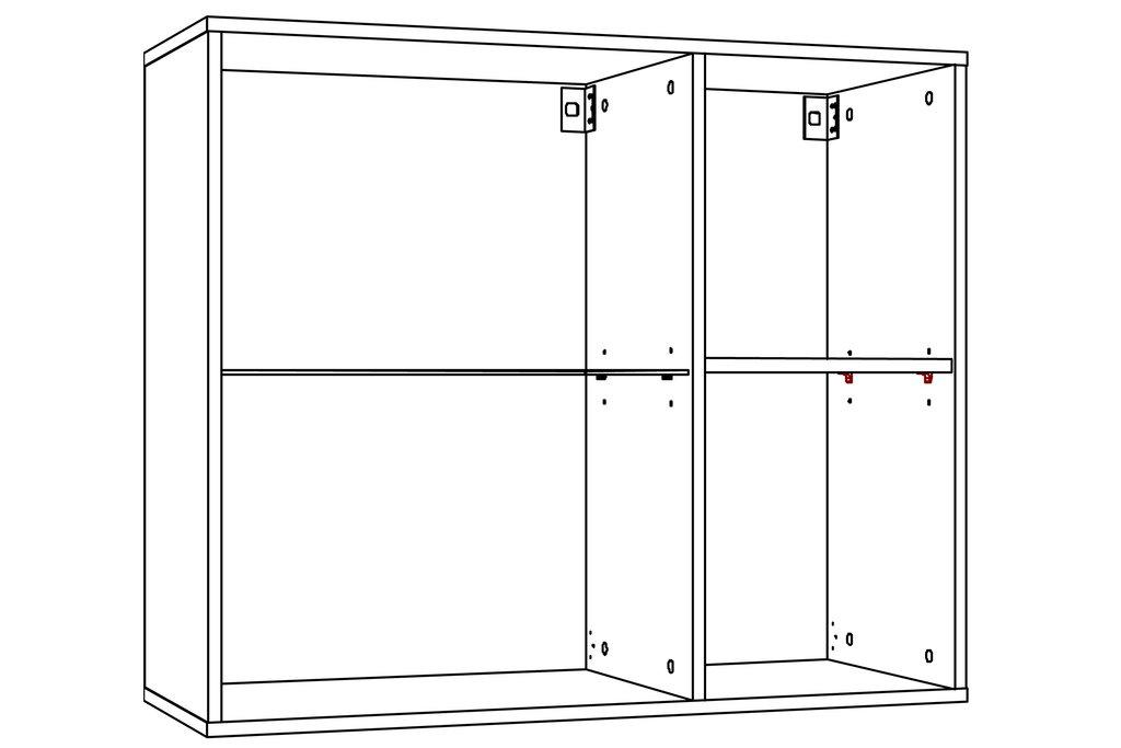 Шкафы, общие: Шкаф навесной LIVORNO НМ 011.29-01 в Стильная мебель