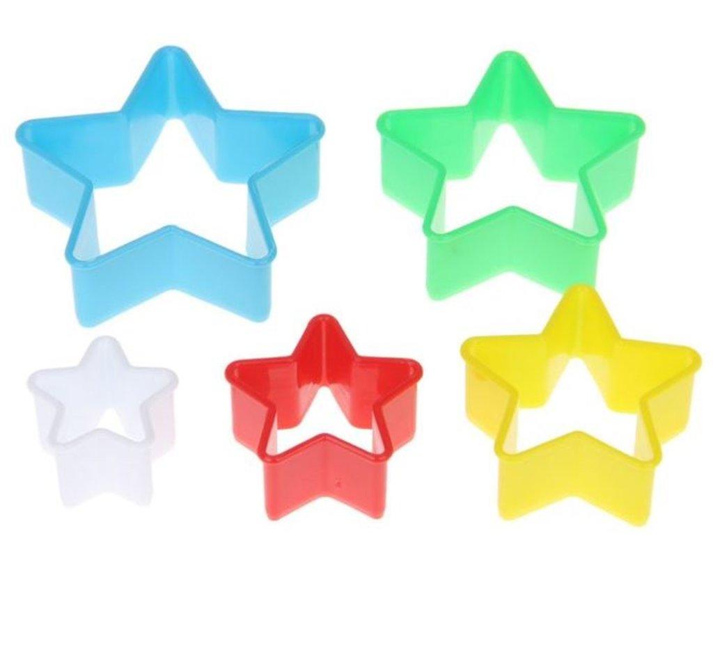"""Кондитерский инвентарь: Набор форм для печенья """"Звезда"""", 5шт в ТортExpress"""