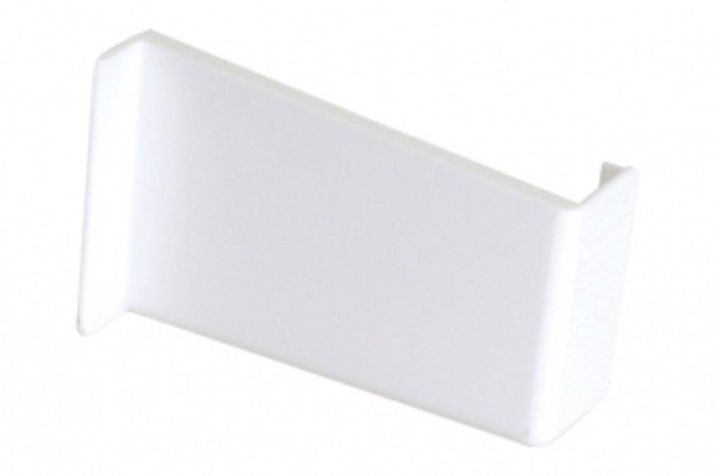 Подвеска полок: Крышечка декоративная для подвески арт.806 белая, правая в МебельСтрой
