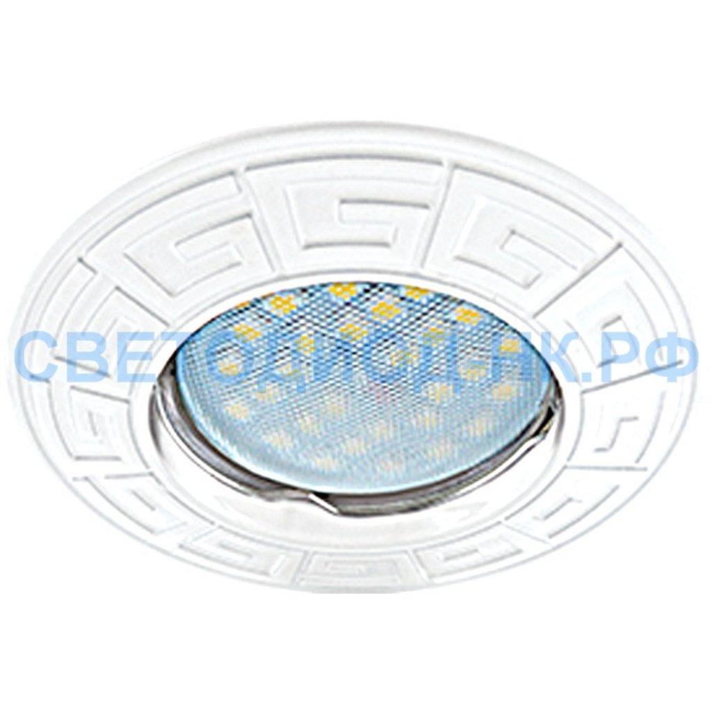 Светильники GU5.3(MR16), MR11: Ecola DL110A MR16 GU5.3 св-к литой Антик Белый FW1602EFF в СВЕТОВОД