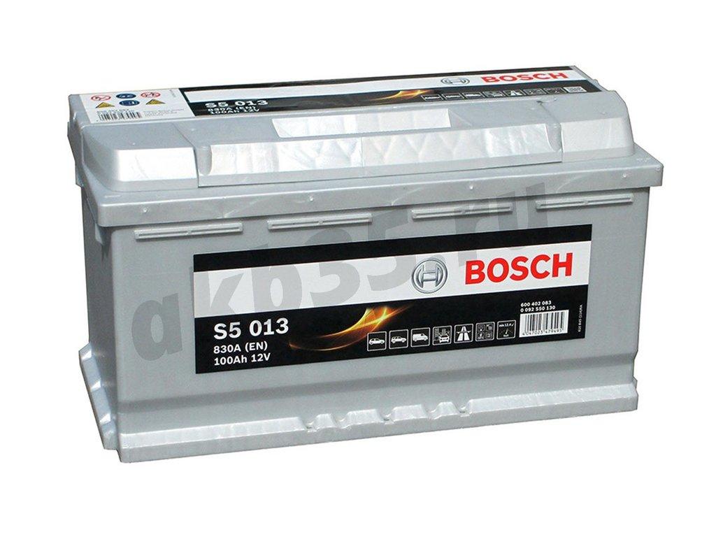 Аккумуляторы: BOSCH S5 013 Silver 6СТ-100 (402 083) /О.П./ в Планета АКБ