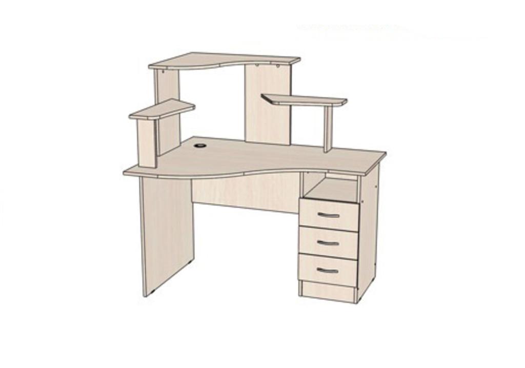 Компьютерные столы: Стол компьютерный Школьник L (Линаура) в Стильная мебель