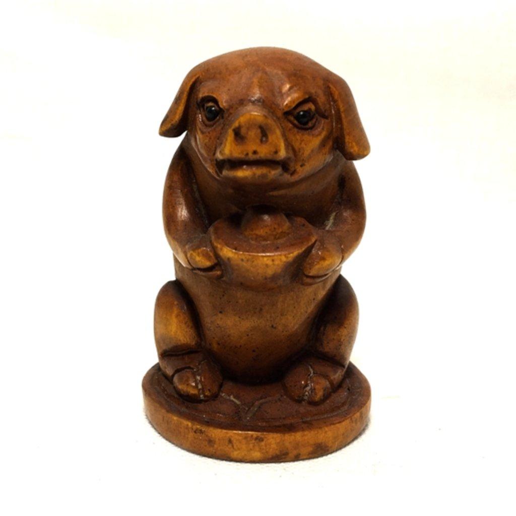 Статуэтки: Свинья с чашей ямб в Шамбала, индийская лавка