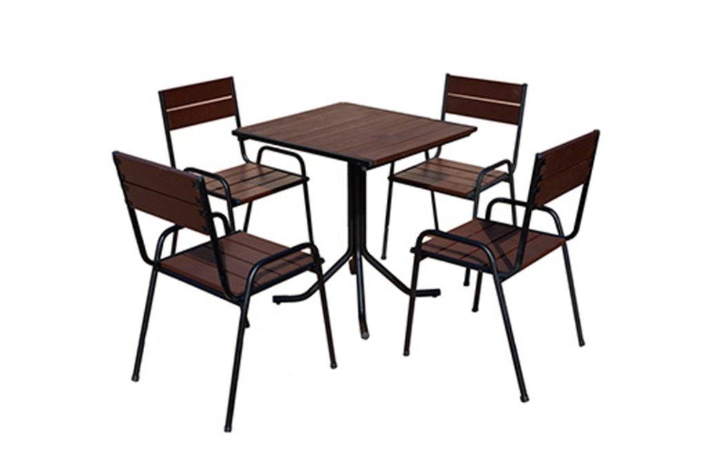 Комплекты мебели для летних кафе и ресторанов: Обеденная группа SF-1 (чёрное) в АРТ-МЕБЕЛЬ НН