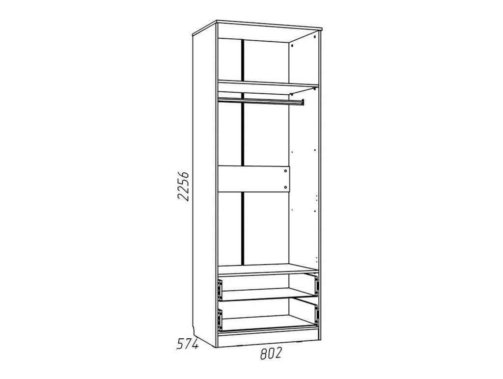 Детские шкафы и стеллажи: Шкаф для одежды с ящиками НМ 013.02-03 Фанк в Стильная мебель