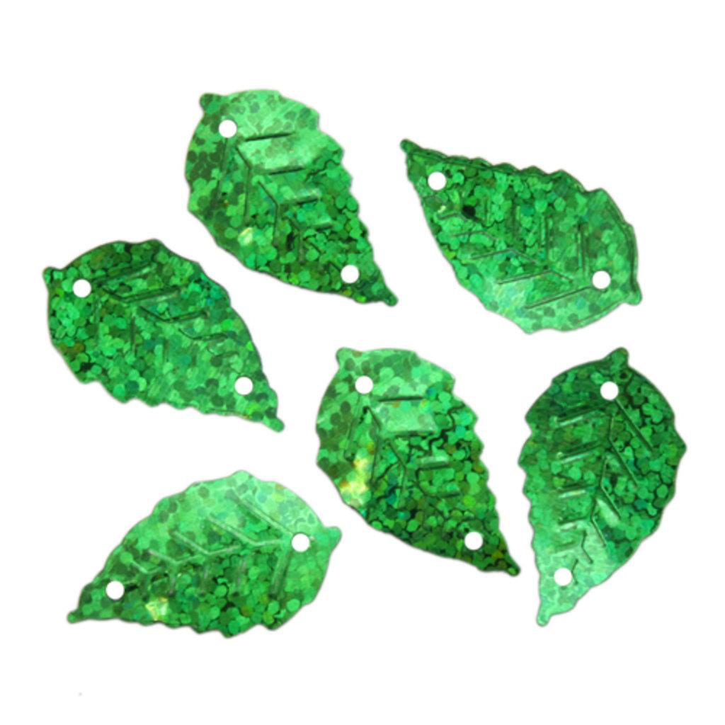 """Листочки: Пайетки""""листочки""""13*25мм.,упак/10гр.Астра(цвет:50104 зеленый голограмма) в Редиант-НК"""