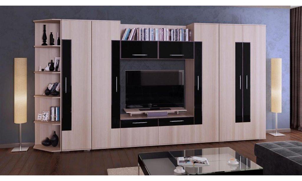 Модульная гостиная Кристалл: Пенал ШР-1 Кристалл (бельё) в Уютный дом