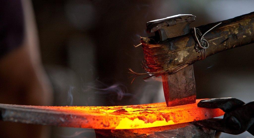 Обработка металла: Ковка металла в ЖБИ и К