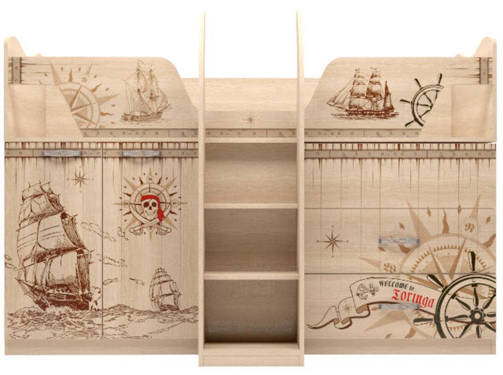 Детские и подростковые кровати: Комплекс универсальный 09 Квест (80х180, настил) в Стильная мебель