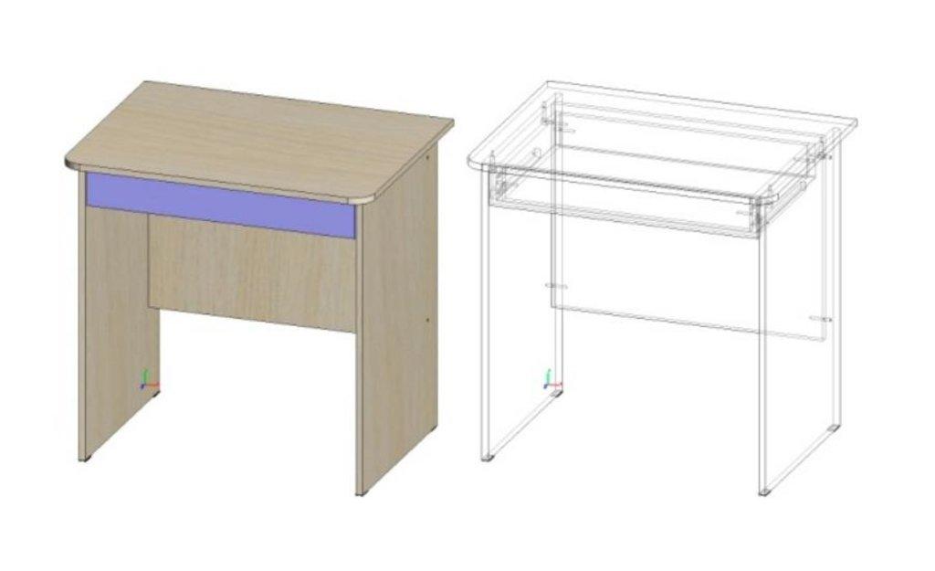 Компоненты товара Стол компьютерный Лик-4: Письменный стол Лик-4 (Д760) в Диван Плюс