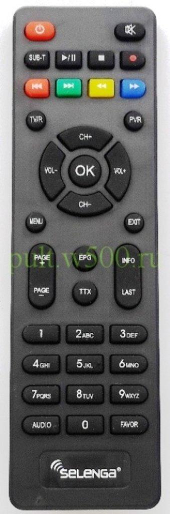 SELENGA: Пульт SELENGA HD950D, T42D (DVB-T2) оригинал в A-Центр Пульты ДУ