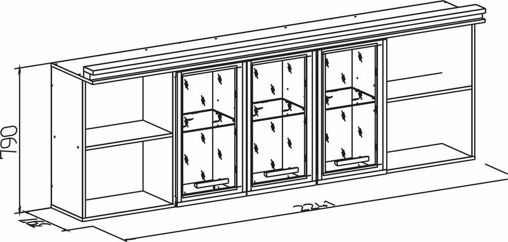 Детские шкафы и стеллажи: Шкаф навесной Nature 81 в Стильная мебель