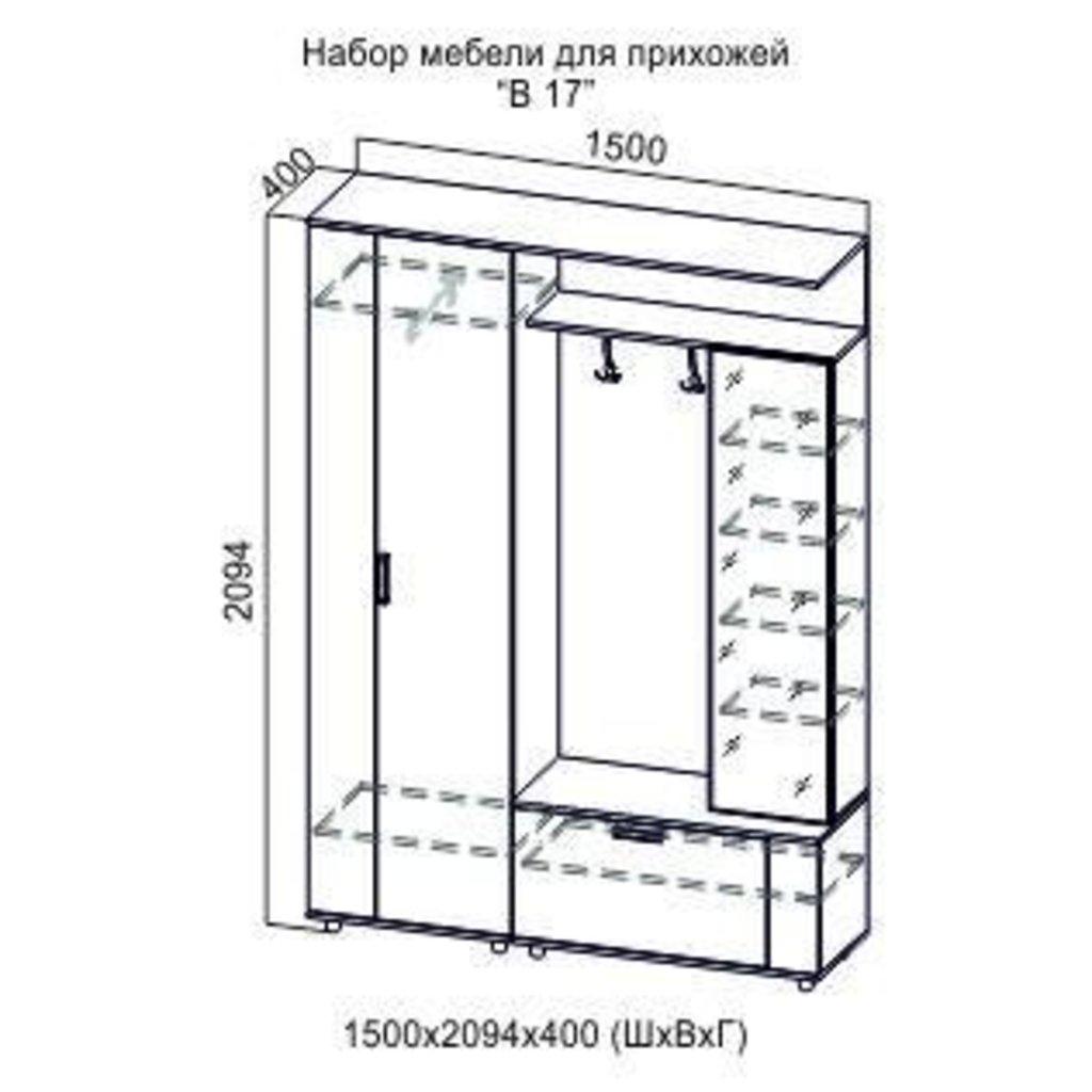 Прихожие: Мебель для прихожей Виза 17 в Диван Плюс