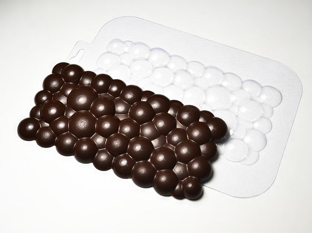 Пластиковые формы для шоколада: Форма для шоколада Плитка Пузырьки в ТортExpress