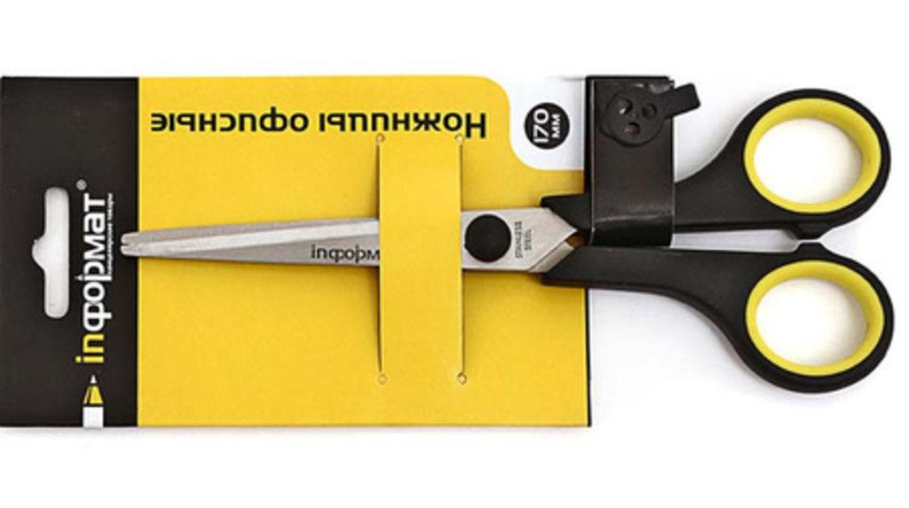 Ножи канцелярские, резаки, ножницы: Ножницы 17см SO1704  inФОРМАТ в Шедевр, художественный салон