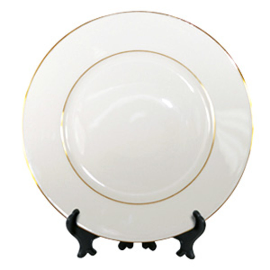 Тарелки и керамическая плитка: Тарелка с золотой каемкой в NeoPlastic