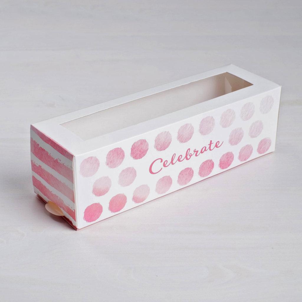 Коробки для макарон: Коробка складная Celebrate 18 х 5,5 х 5,5 см. в ТортExpress