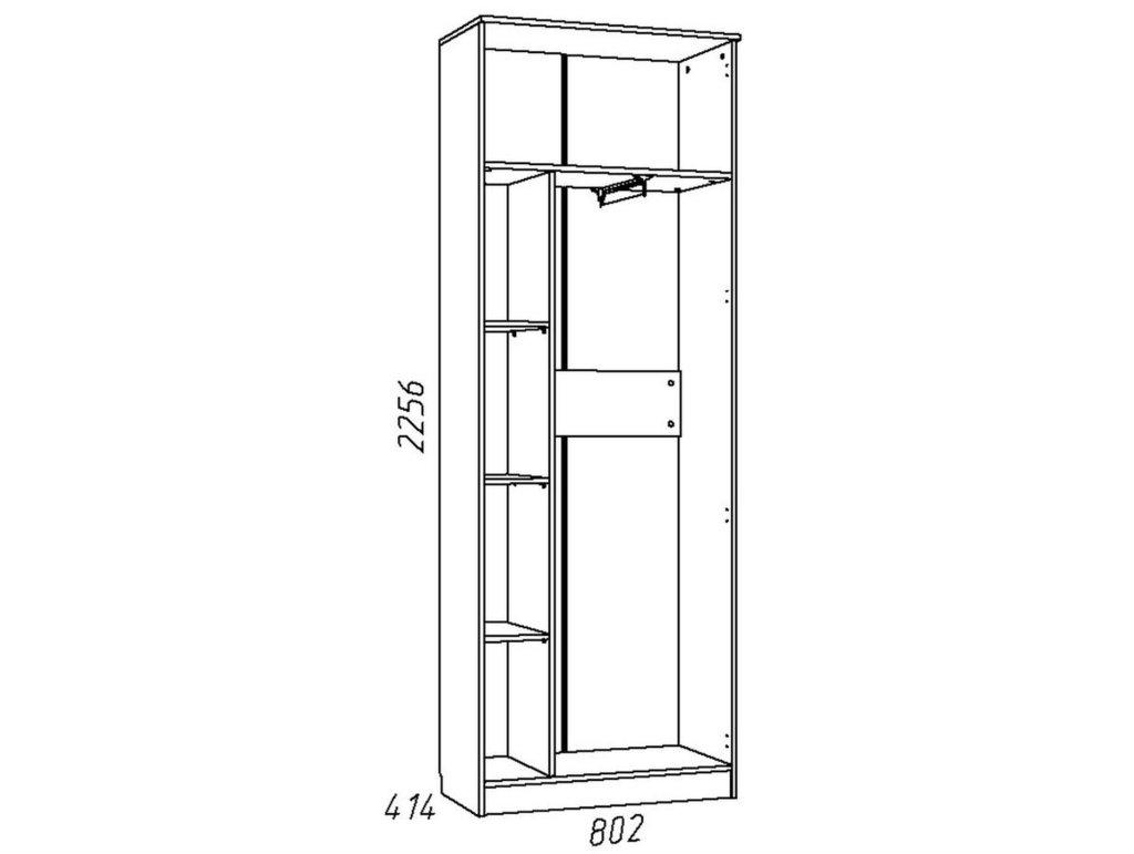 Детские шкафы и стеллажи: Шкаф для одежды НМ 013.02-02 Акварель в Стильная мебель