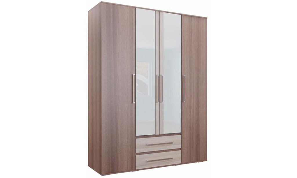 Спальный гарнитур Оливия: Шкаф ШР-4 Оливия, платье и бельё, 2 ящика, 2 зеркала в Уютный дом