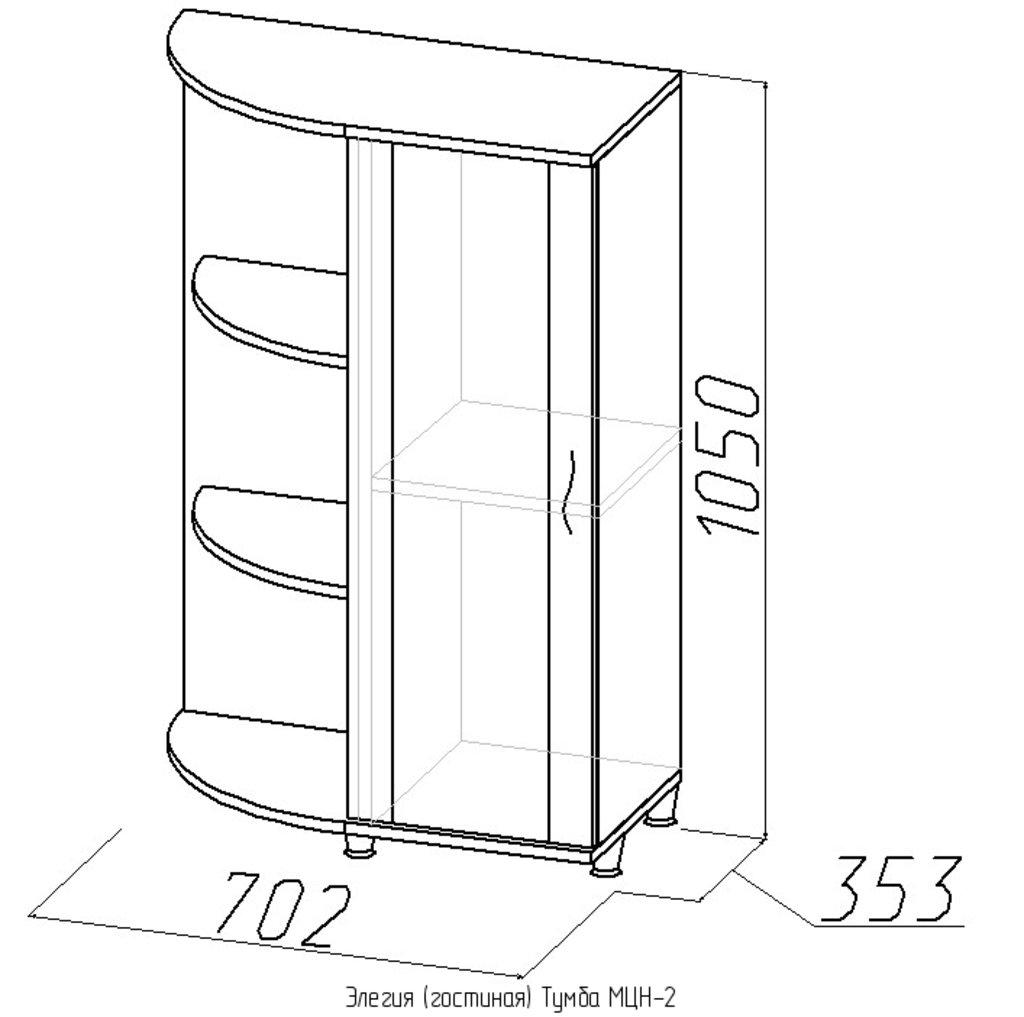 Тумбы и стойки под телевизор и аппаратуру: Тумба МЦН-2 Элегия в Стильная мебель