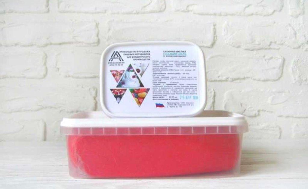 Ингредиенты: Паста сахарная для обтяжки Сладкий шелк Красная в ТортExpress