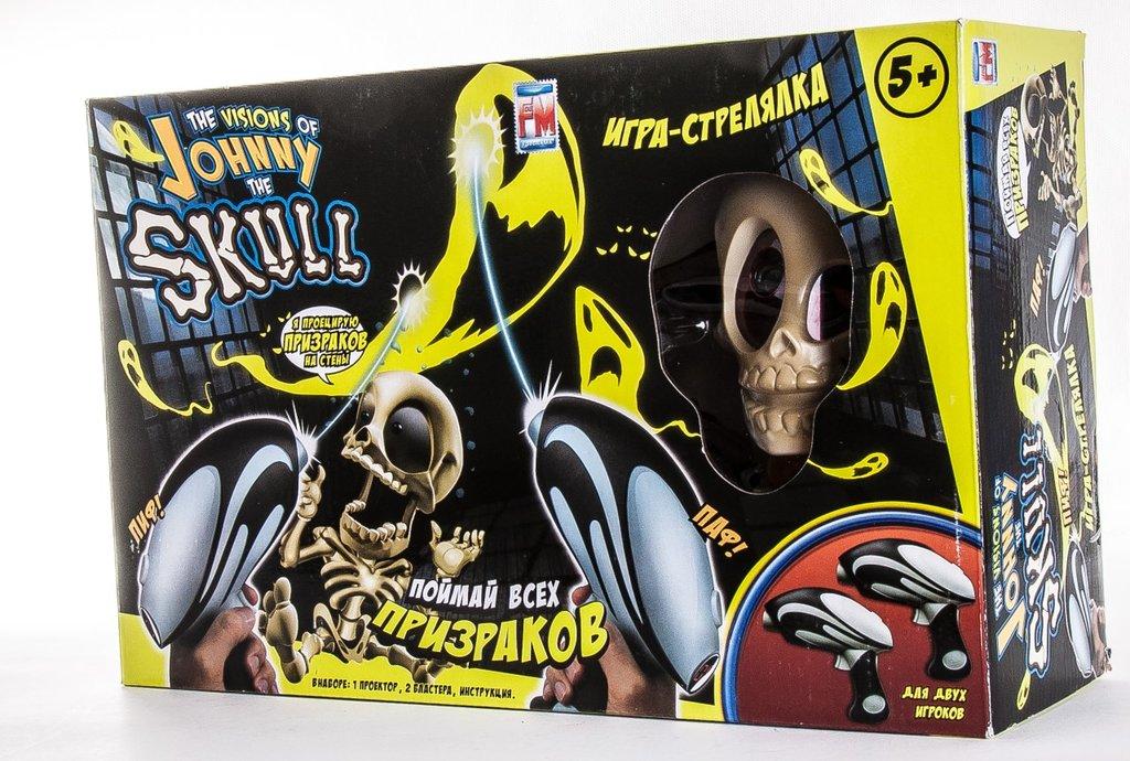 Игрушки для мальчиков: Тир проекционный Джонни-Черепок с 2-мя бластерами Johnny The Skull 0669-2 в Игрушки Сити